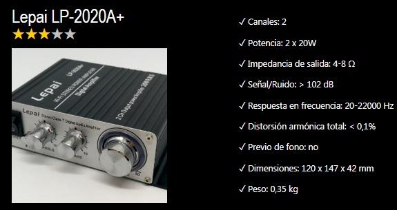 amplificador para tocadiscos funcionalidades