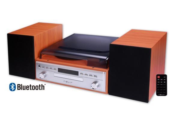 minicadena con tocadiscos sistema bluetooth