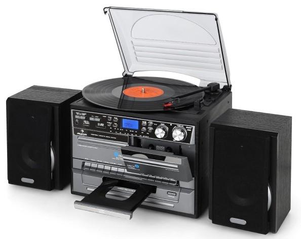 minicadena con tocadiscos cd mp3