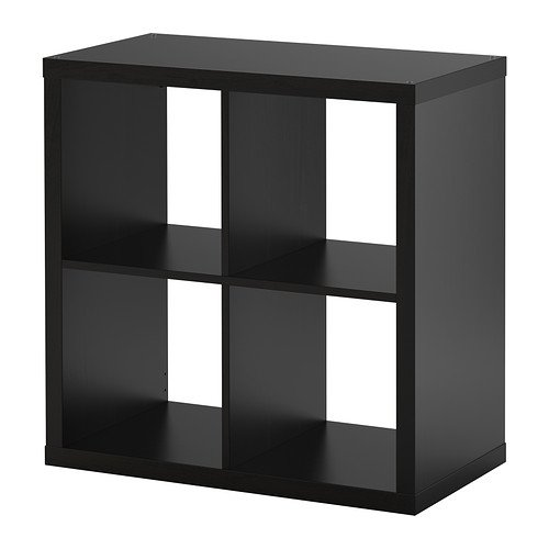 mueble sencillo color negro para tocadiscos