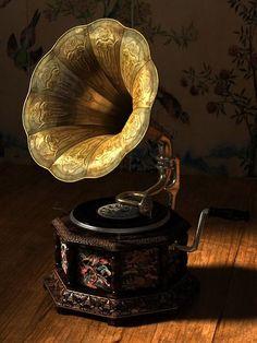 tocadiscos antiguos gramófono