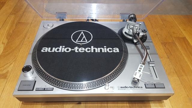 tocadiscos audio technica plateado