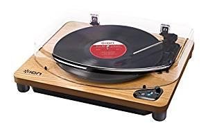 comprar amazon tocadiscos bluetooth ion audio air lp wood