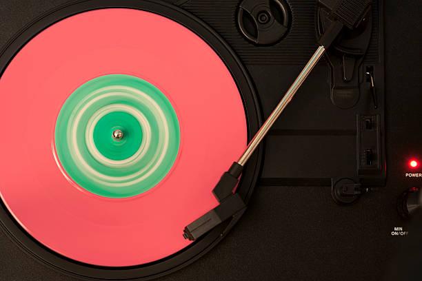 tocadiscos lauson disco rosa