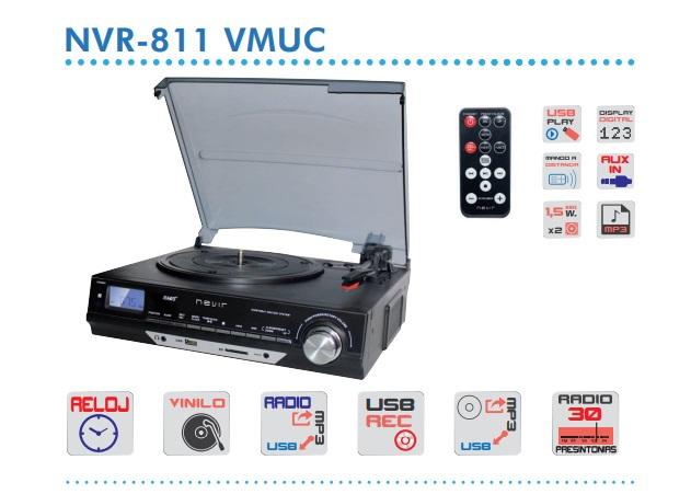 tocadiscos nevir nvr-811 vmuc características