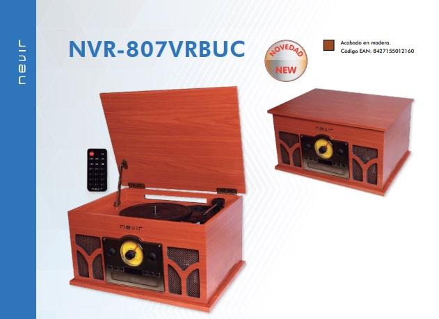 tocadiscos nevir nvr-807vrbuc funcionalidades