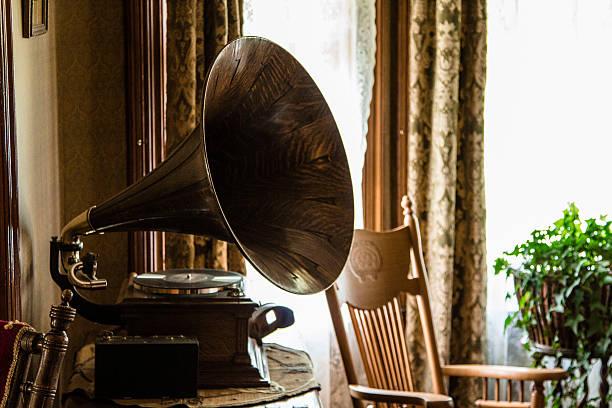 tocadiscos retro gramófono