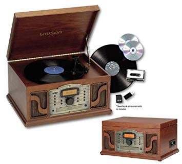comprar amazon tocadiscos retro lauson cl123