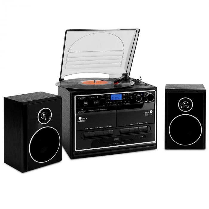 tocadiscos usb cd auna 388-bt