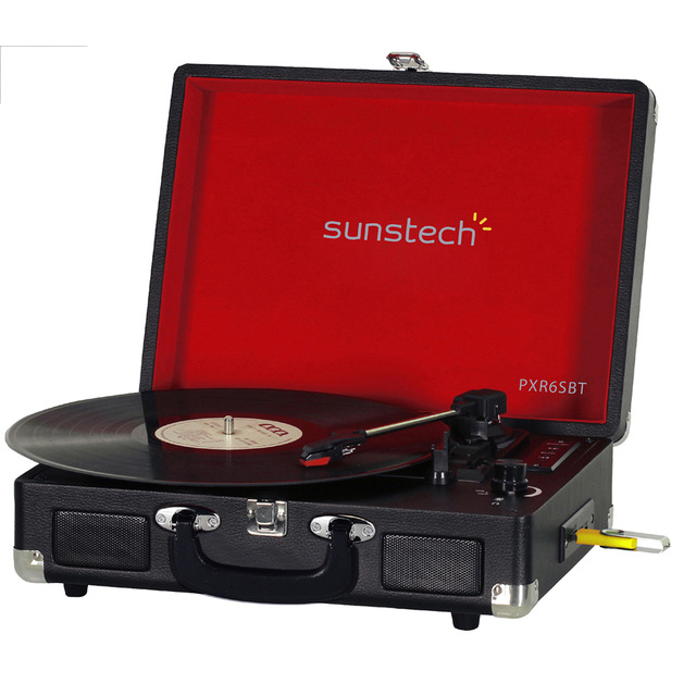 tocadiscos sunstech maleta usb
