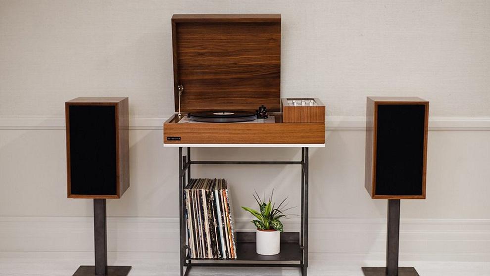 tocadiscos mueble vintage sala de estar