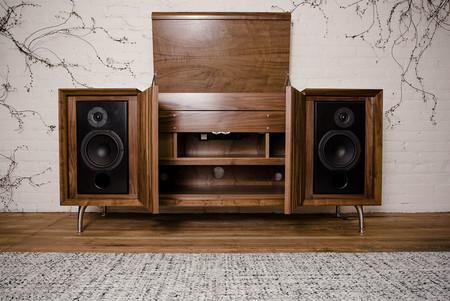 tocadiscos vintage mueble moderno