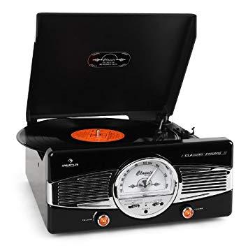 comprar vía amazon tocadiscos vintage auna mg-tt-82b